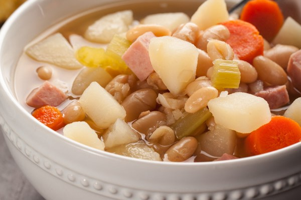 Ham Bean Vegetable Soup