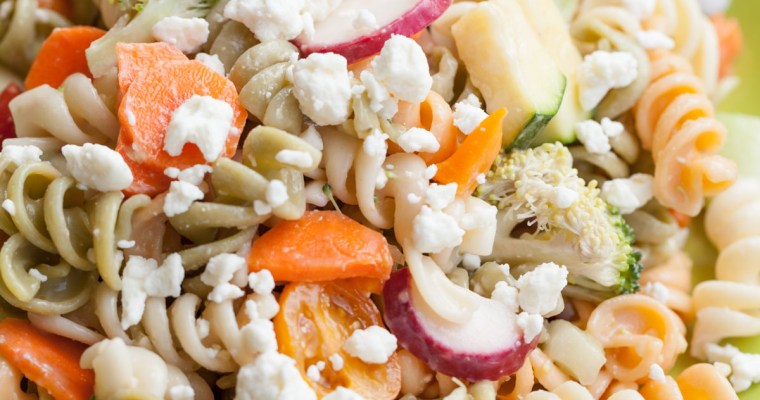Quick and Easy Lunches – Marinated Vegetable Pasta Salad with Feta