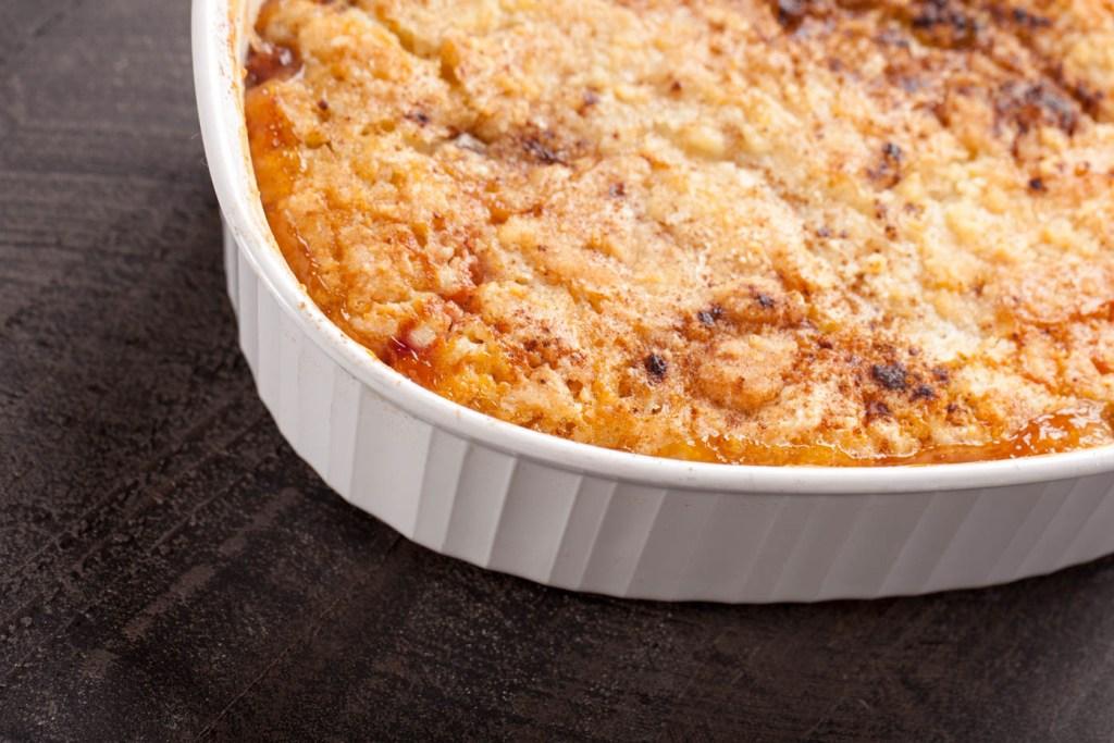 The World's Best Peach Crisp Recipe #homebakedjoy