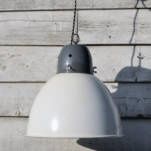 Industrial-Spun-Metal-Pendant-Lamp-Shade-white