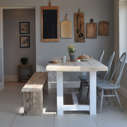 Reclaimed Wood Farmhouse Dining Table