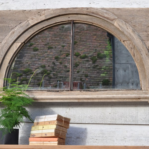 Reclaimed Vintage Arched Window Mirror