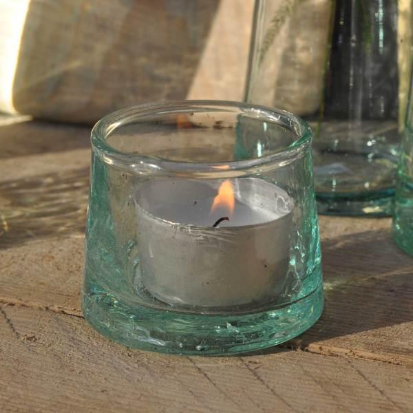 homebarn-hand-blown-glass-tea-light