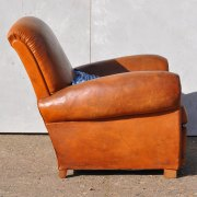 Antique-French-Leather-Club-Arm-Chair---Loire-3