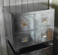 Pair of Vintage Industrial Steel Bedside Filing Cabinet ...