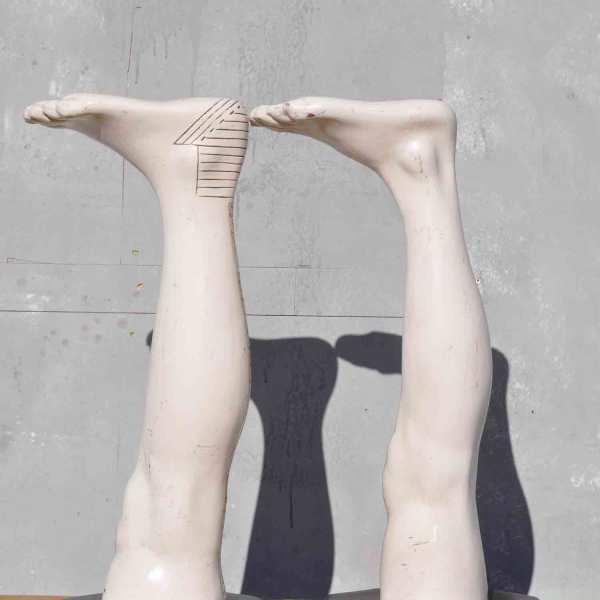 Vintage Leg Model - Quirky Haberdashery Sock Display