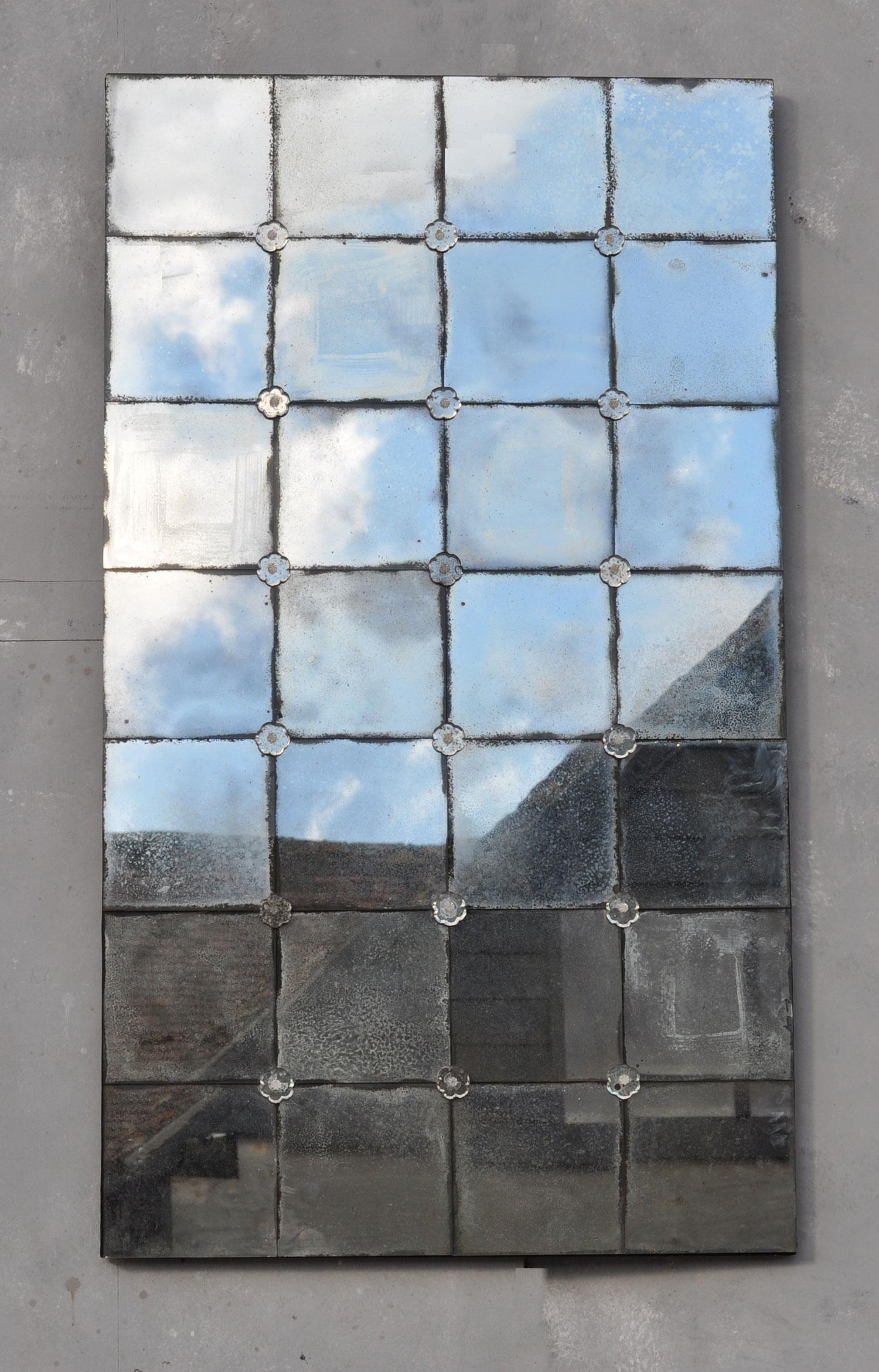 Verre Eglomise Venetian Speckled Mirror