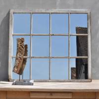 Reclaimed Almost Square Vintage Window Mirror - Home Barn ...