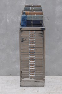 Vintage Industrial Steel Filing Cabinet 20 Drawer - Home ...