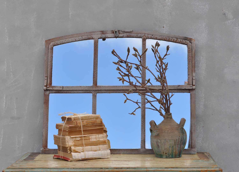 Industrial Warehouse Six Pane Window Mirror