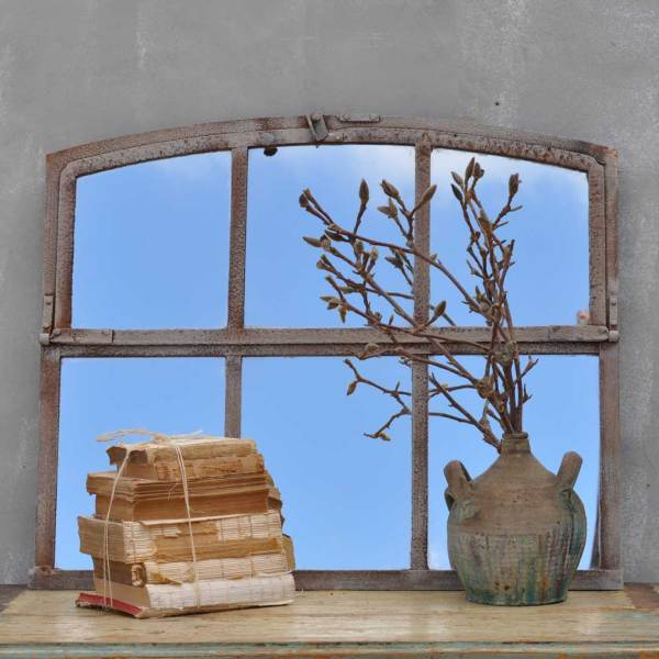 Industrial Warehouse Six Pane Window Mirror