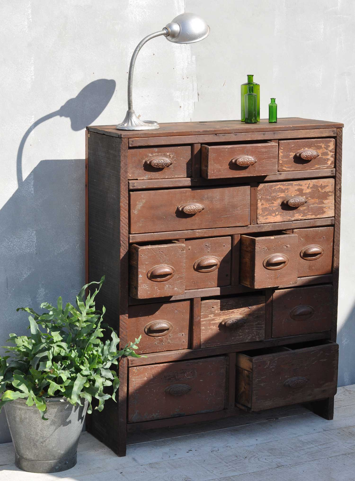 Antique Merchants Chest of Drawers Dating From The Late 1800s