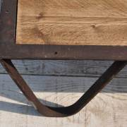 Industrial Cast Iron And Reclaimed Timber Coffee Table