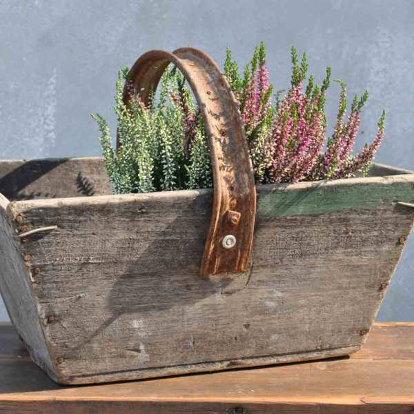 charming hand constructed wooden trug