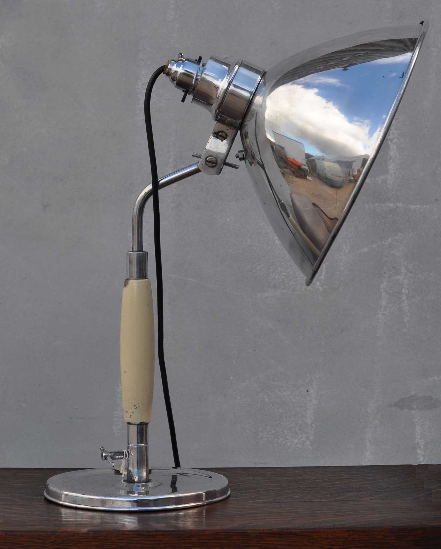German Industrial Style Polished Medical Lamp