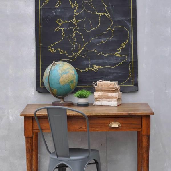 Vintage Solid Oak 1930's Office Desk - Two Drawers