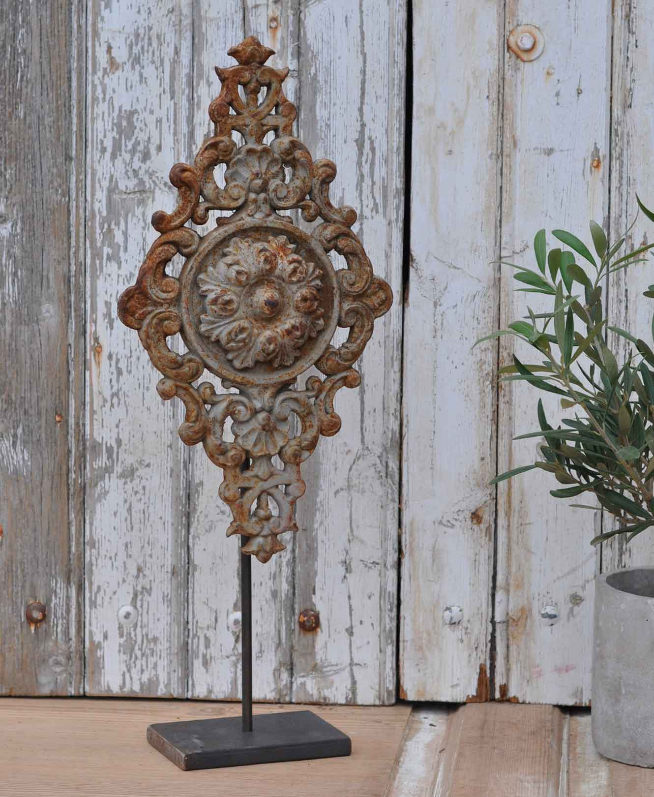 Antique Belgian Architectural Salvage Cast Iron Artwork