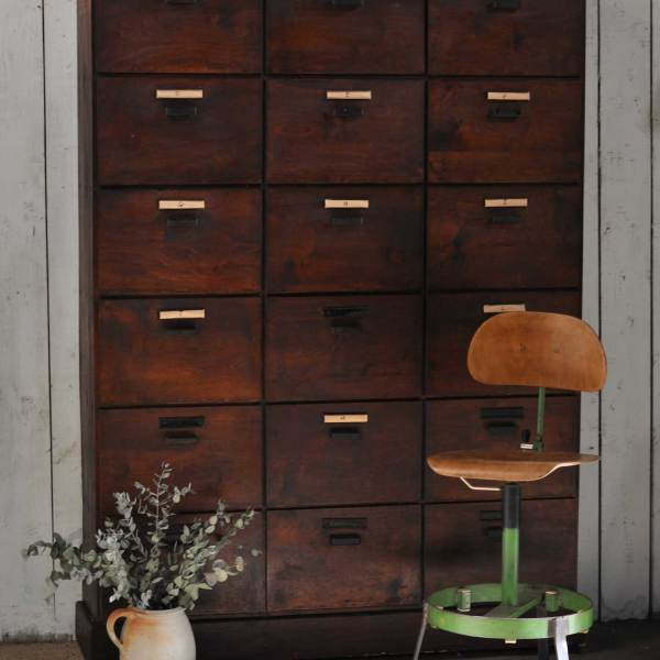 Industrial vintage rustic eighteen door Locker unit