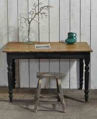 Ladies Vintage Writing Desk On Turned Painted Legs