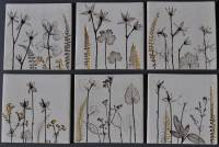 Hand Made Ceramic Botanical Wall Art Tile - Home Barn Vintage