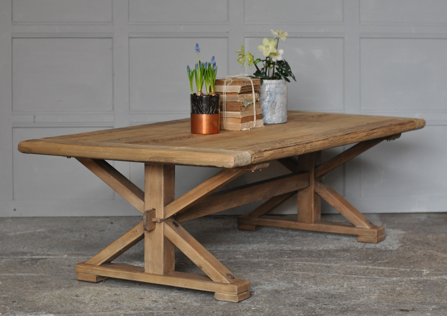 Reclaimed Solid Elm Rustic Coffee Table