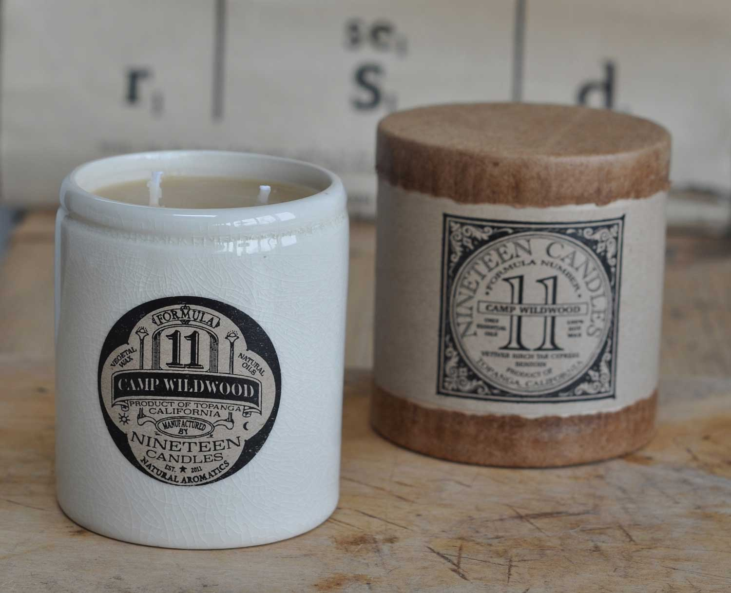 Handmade Nineteen Candle No 11 Camp Wildwood