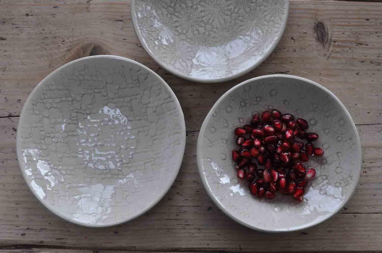 Wonki Ware Hand Made Artisan Stoneware Salsa Dish