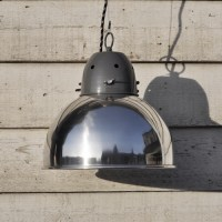 Industrial Spun Metal Pendant Lamp Shade - Chrome - Home ...