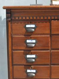 Multi Drawer Dark Wood Filing Cabinet