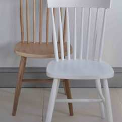 Solid Oak Pressed Back Chairs Ergonomic Chair Evaluation Form Oxford Spindle Dining White Painted Or