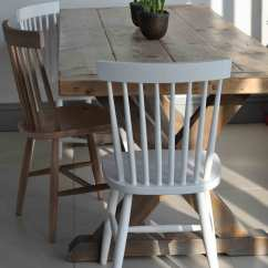 Oak And White Dining Chairs Massage For Sale Oxford Spindle Back Chair Painted Or