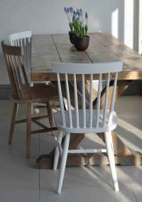 Oxford Spindle Back Dining Chair - White Painted or ...