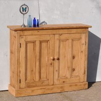 Reclaimed Pine Two Door Console Cabinet - Home Barn Vintage