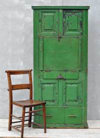 Rustic Vintage Bureau Tall Cabinet Original Green ...