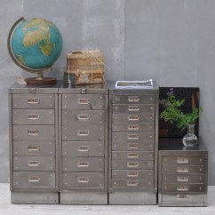 Vintage Living Room Furniture Ideas Grey And Black Sofa Industrial Steel Filing Cabinet 10 Drawer | Home Barn