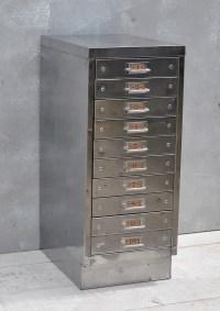Vintage Industrial Steel Filing Cabinet 10 Drawer - Home ...