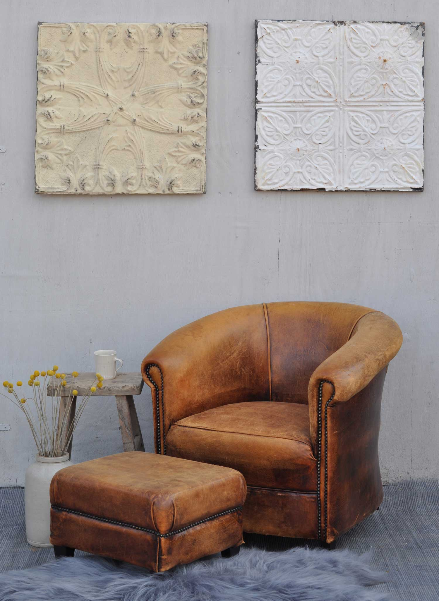 french country dining chairs with arms wicker chair cushions outdoor vintage worn leather club - home barn