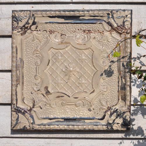 American vintage Tin Ceiling Tile Art