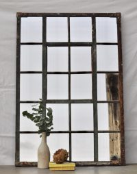 Industrial Vintage Cast Iron Large Warehouse Window Mirror ...
