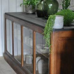 French Style Kitchen Furniture Remodeling Calgary Antique Shop Counter Glazed Fronted Cabinet ...