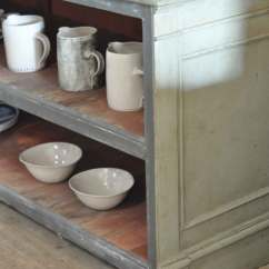 Industrial Kitchen Island Vintage Cabinet Hardware Antique Shop Counter Open Shelving Unit