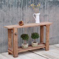 Small vintage workbench console table | Home Barn