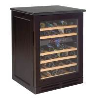 Avanti 46 Bottle Dual Zone Wood Cabinet Wine Cooler - Espresso