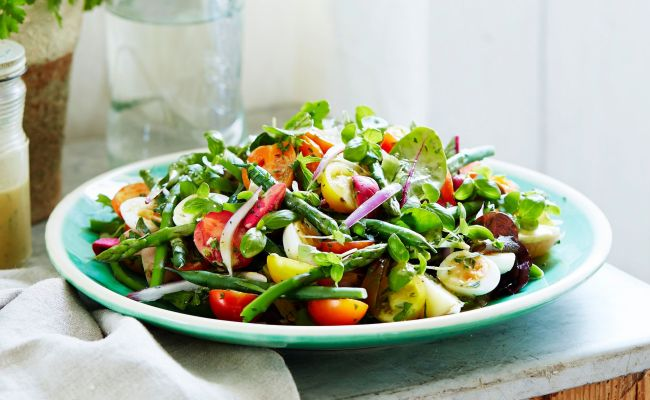 Rainbow Nicoise Recipe Home Beautiful Magazine Australia