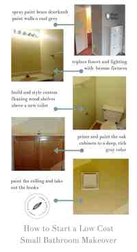 How to Start a Low Cost Small Bathroom Makeover