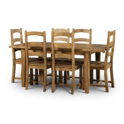 Cheap Pine Dining Chairs West Elm Chair Covers Solid Reclaimed Extending Table Set 4