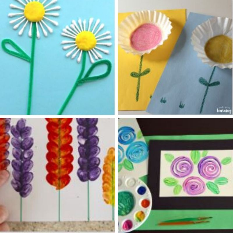 20 Easy Spring Flower Crafts For Kids Homebody Mommy
