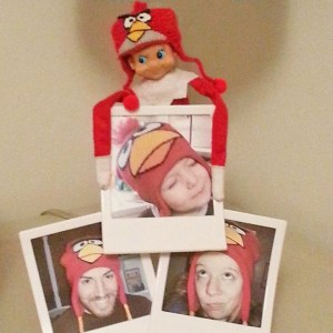 elf on the shelf angry bird hat