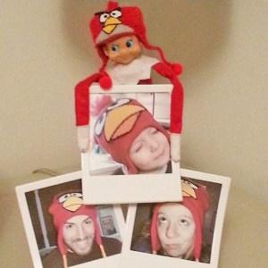 elf on the shelf angry bird hat