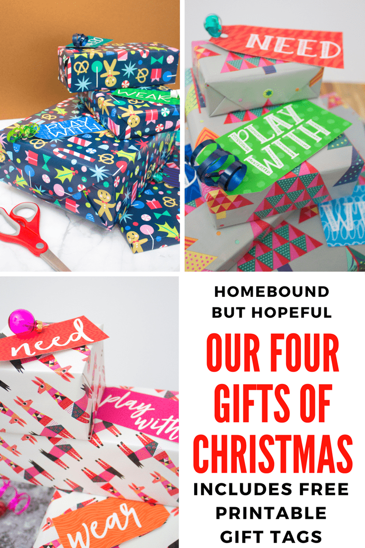 Our Four Gifts Of Christmas + Free Printable Tags
